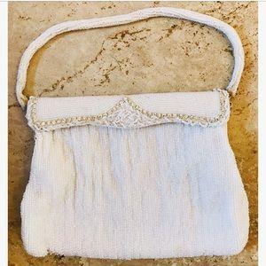 Vintage Hand-Beaded Bag, Purse, Japan, 1950s